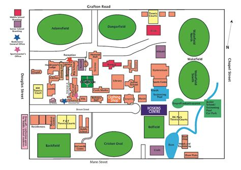 map to home map of the school tas