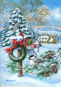 30 X 30 House Plans Christmas Mail Painting By Richard De Wolfe