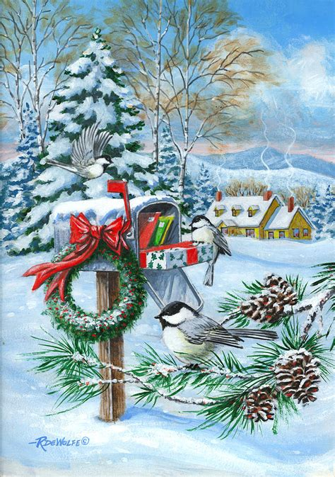 images of christmas paintings christmas mail painting by richard de wolfe