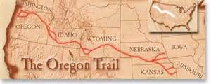 map of the oregon trail route