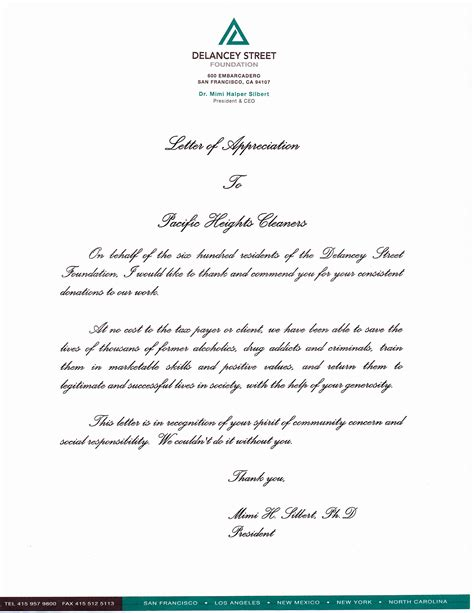 appreciation letter sle for service appreciation letter housekeeping services 28 images