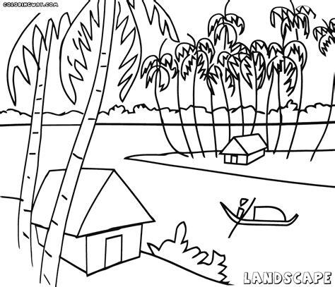 african landscape coloring page landscape coloring pages coloring pages to download and
