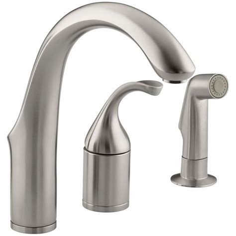 wow kohler single handle kitchen faucet repair 86 for your kohler forte single handle side sprayer bar faucet in