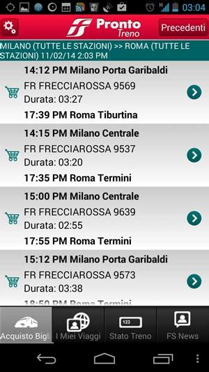 viaggiatreno mobile android trenitalia mobile app pronto treno orari e prezzi per