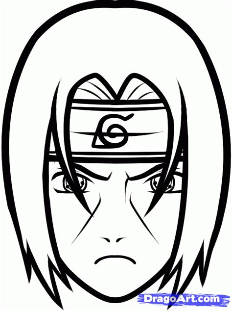 drawing easy how to draw itachi easy step by step characters anime draw japanese anime draw