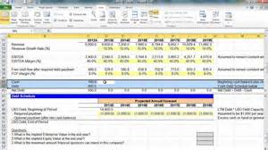 Lbo Model Template by Financial Modeling Lesson Simple Lbo Model 2 Of 3