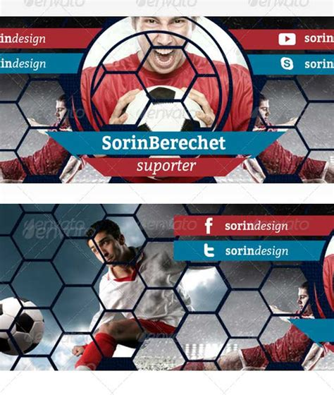 35 Amazing Free Youtube Banner Templates Psd Download Soccer Banner Template