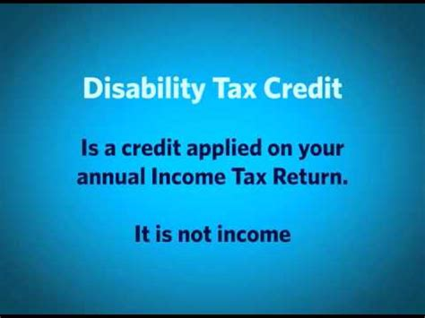 Disability Tax Credit Form The Differences Between Disability Benefits Disability Tax Credits