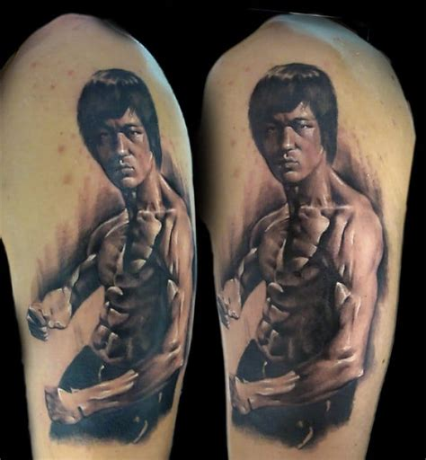 bruce lee tattoo half arm bruce golfian