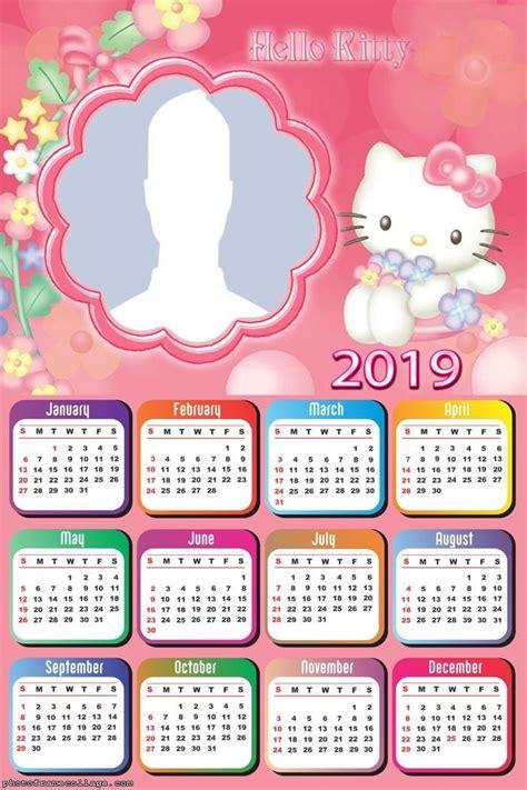 kitty toys calendar  frame photo montage    kitty toys  kitty