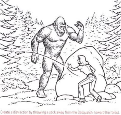 Cryptomundo 187 How To Outwit A Sasquatch Bigfoot Coloring Pages