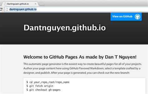 Github Page Template pre fab pages with github s automatic page generator