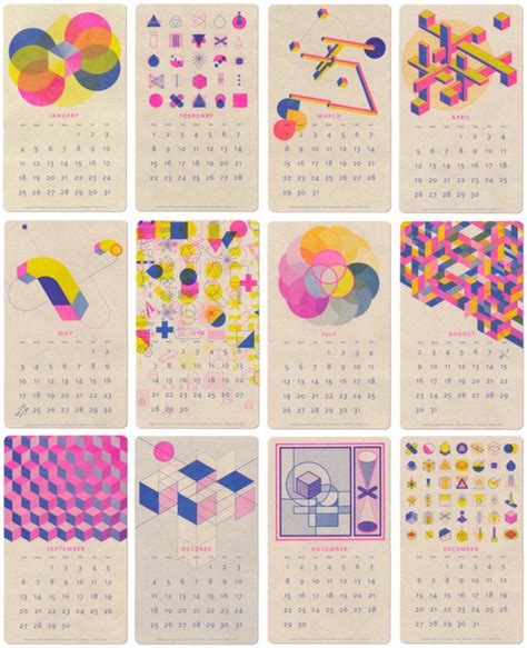 design of calendar 2015 26 modern calendars for 2015 design milk
