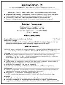 Bad Resume Sles by Exle Nursing Resume Student Resume Template