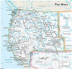map of western united states with cities us west regional wall map by geonova
