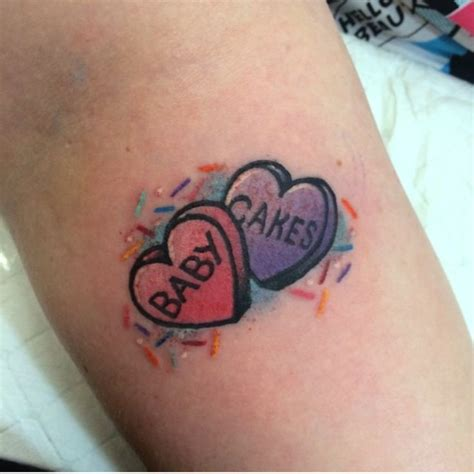 candy heart tattoo baby cakes and sprinkles tattoos