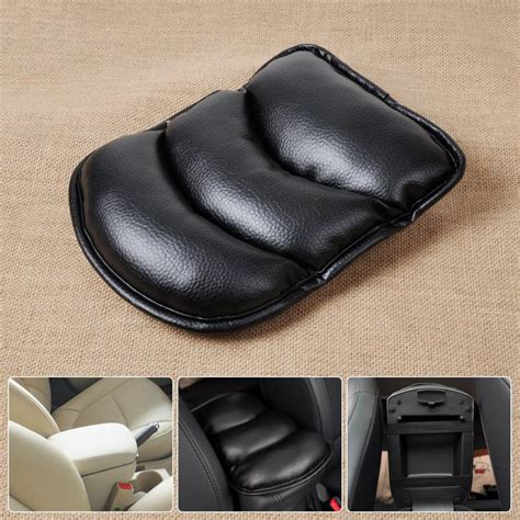 Armrest Covers For tracking new black car armrest console pad cover cushion