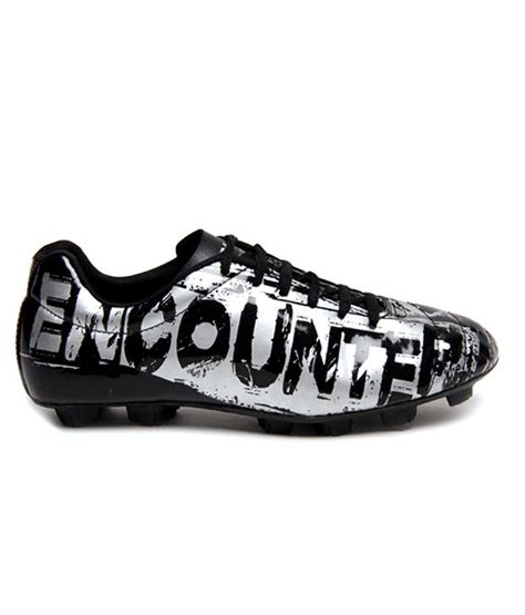 encounter football shoes buy nivia black silver football shoes for snapdeal