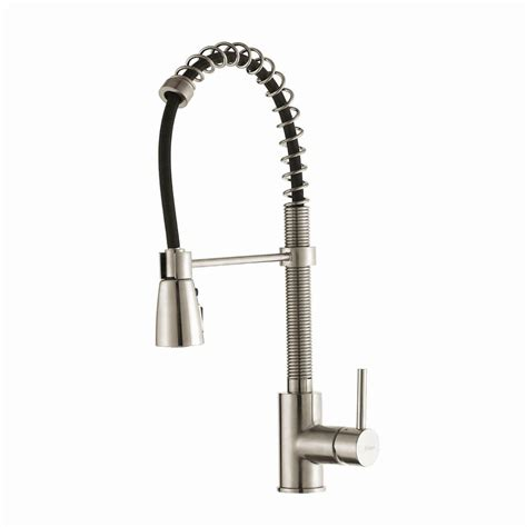 industrial kitchen faucets stainless steel kraus commercial style single handle pull down kitchen