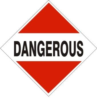 dangerous d o t placard