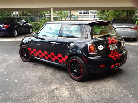 custom mini cooper wrap mini cooper custom checkerboard vinyl graphics rally