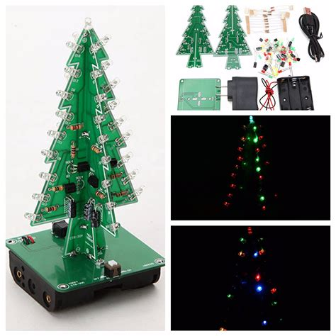 universal safety christmas xmas tree led flash kit 3d diy