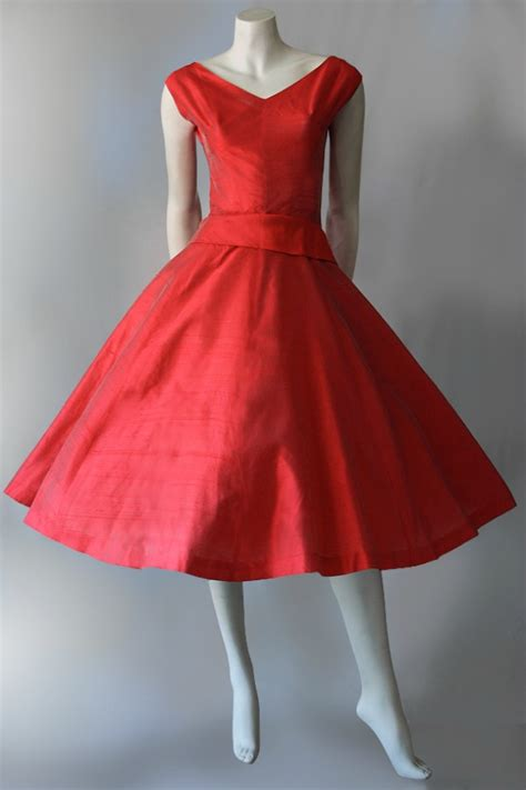 silk 1950s dress by pam rogers with tags vintage