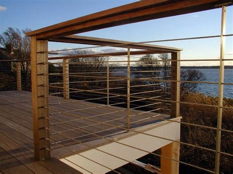 wire banister railings deck railings and decks on pinterest