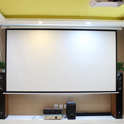 ceiling mounted electric projector screen hd electric projection screen 150 inch with remote