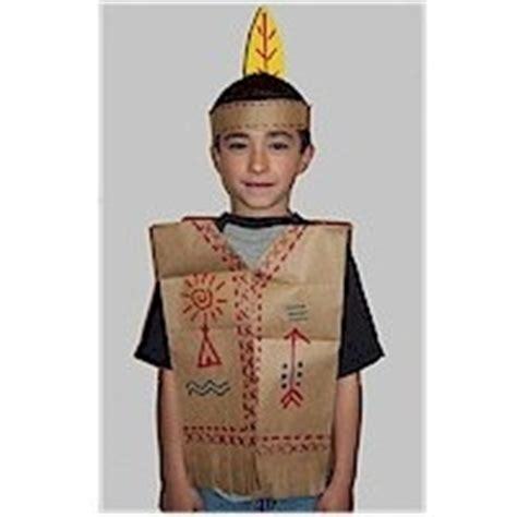 preschool thanksgiving costumes indian vest just one indian vest little angels craft ideas pinterest