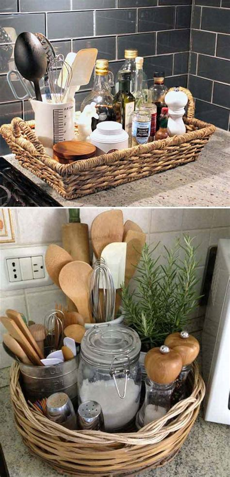 kitchen basket ideas top 21 awesome ideas to clutter free kitchen countertops