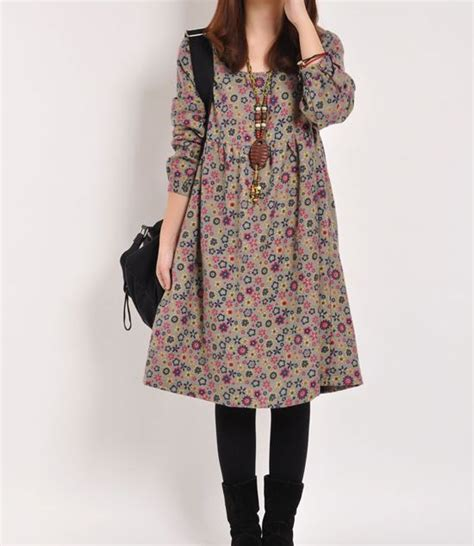 Cotton Dress floral print cotton dress sleeve di