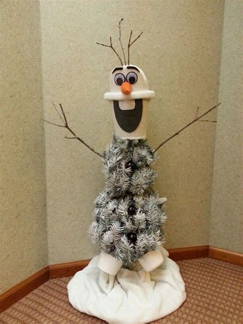 olaf christmas tree crafts pinterest trees