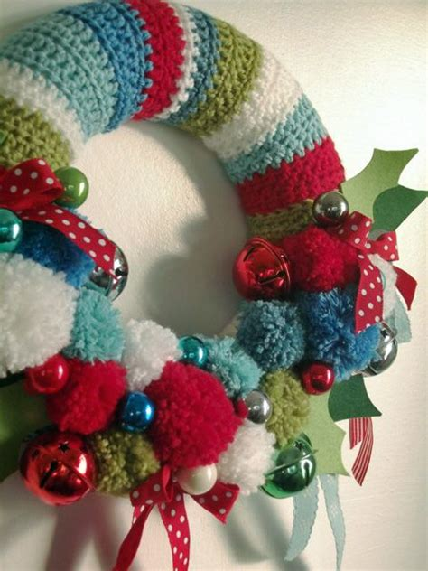 1000 ideas about pom pom wreath on wreaths