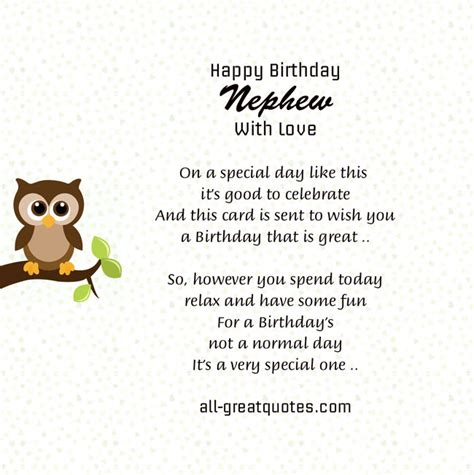 Happy Birthday Nephew Quotes Happy Birthday Nephew Quotes Quotesgram