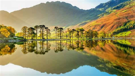 wallpaper lake buttermere national park cumbria england mountains  nature