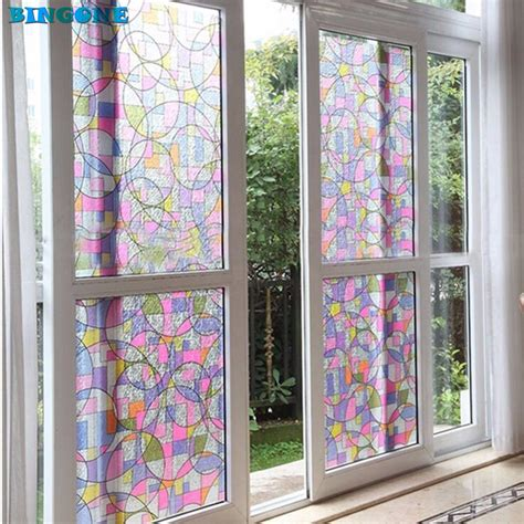 decorative glass film new hot circles shape 45x200cm privacy textured stained