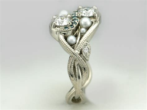 Wedding Rings With Pearls by Infinity Wedding Ring With Pearls Tamron Jewelry