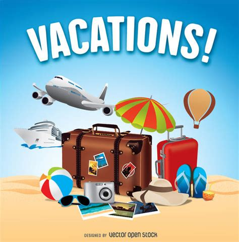 imagenes de disfruta tus vacaciones summer holidays travels vector download