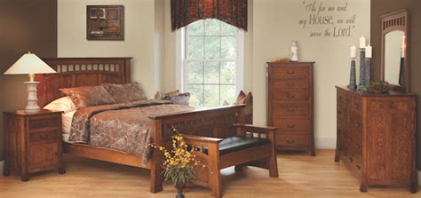 bridgeport mission style oak bedroom collection amish bedroom