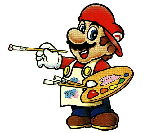 mario painting mario paint snes artwork from animation and