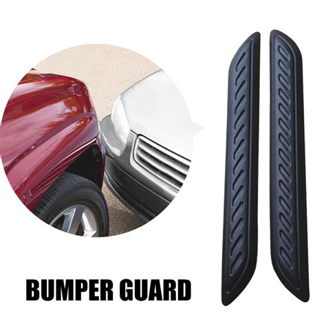 2pcs Car Front Rear Edge Bumper Corner Guard Scratch Protection Decora 2016 2pcs large car rubber bumper protector guard corner crash bar trim protection door