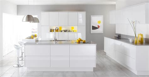 White Kitchens With Islands Modern White Kitchen With Island And Bar Decobizz