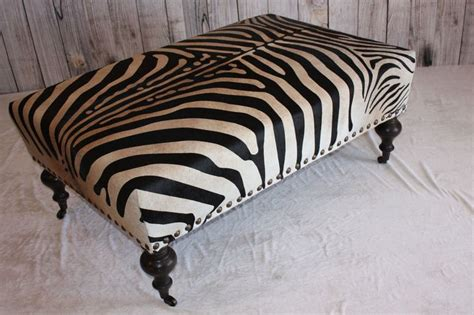 Brown Zebra Print Ottoman Best 25 Cowhide Ottoman Ideas On Southwestern Recliner Chairs Cabin Chic And