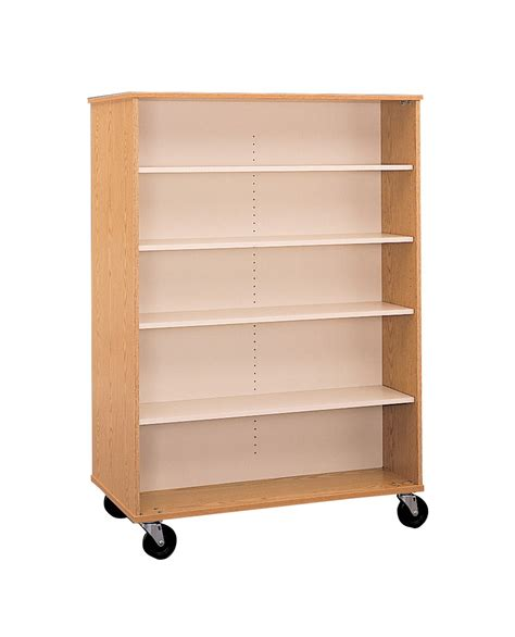 48 x 36 bookcase fleetwood double sided bookcase 48 w x 24 d 36 h in