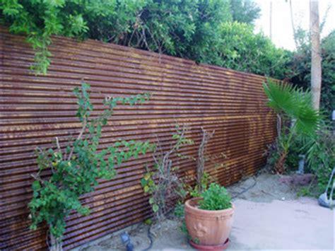 corten corrugated fence rustic exterior phoenix