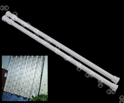extendable curtain pole no screws 2 x spring loaded extendable telescopic voile tension