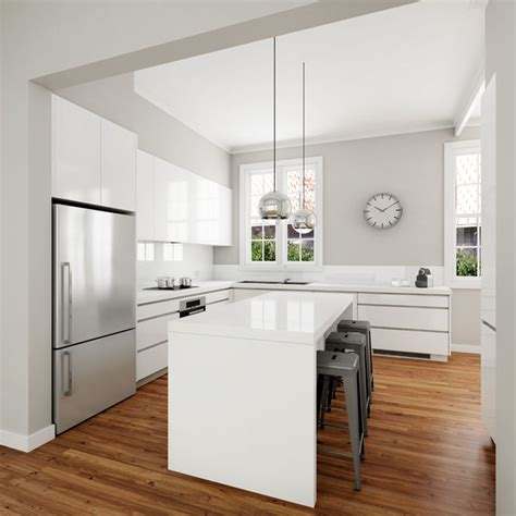 White Kitchen Cabinets Modern 25 Best Ideas About Modern White Kitchens On Pinterest White Contemporary Kitchen Modern