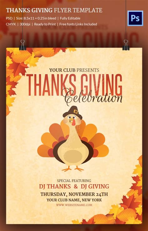 7 thanks giving flyers free psd format download free