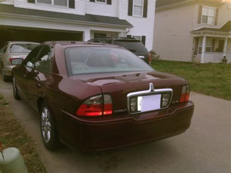 Burgundy Wine Colored 2004 Lincoln Ls W Sunroof